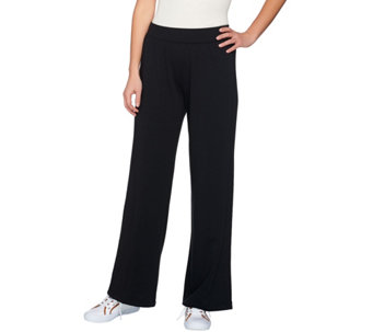 Isaac Mizrahi Live! SOHO Wide Leg Pull-On Knit Pants - A273641