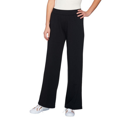 Isaac Mizrahi Live! SOHO Wide Leg Pull-On Knit Pants