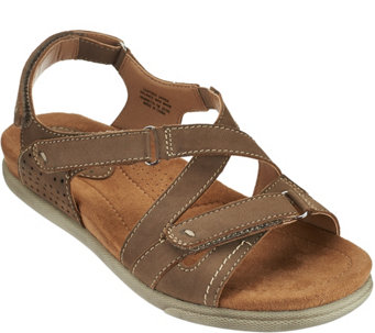 Earth Origins Nubuck Adj. Multi-strap Sandals - Henrietta - A275141
