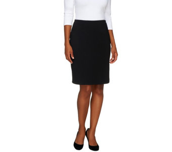 """As Is"" Isaac Mizrahi Live! Ponte Knit Straight Skirt - A276841"