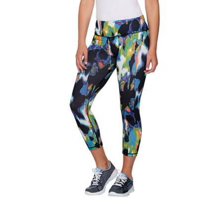 cee bee CHERYL BURKE Printed Pull-On Crop Pants