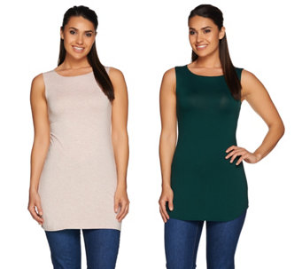 LOGO Layers by Lori Goldstein Set of Two Knit Tanks - A279441