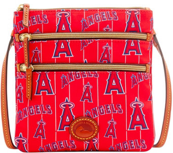 Dooney & Bourke MLB Nylon Angels Triple Zip Crossbody - A281541
