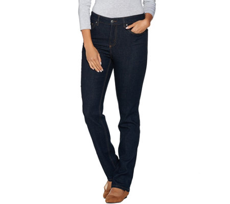 Denim & Co. 5 Pocket Straight Leg Denim Jeans