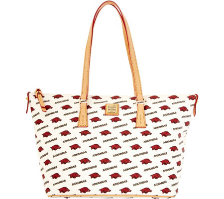 Dooney & Bourke NCAA University of Arkansas Zip Top Shopper