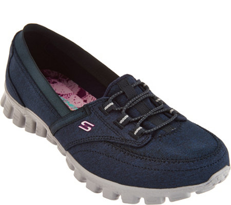 """As Is"" Skechers EZ Flex Canvas Slip-on Shoes - Ringer"