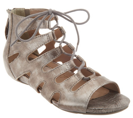 Earthies Suede Ghillie Lace-up Sandals - Roma