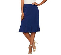 Susan Graver Premier Knit Skirt with Chiffon Godets - A289441