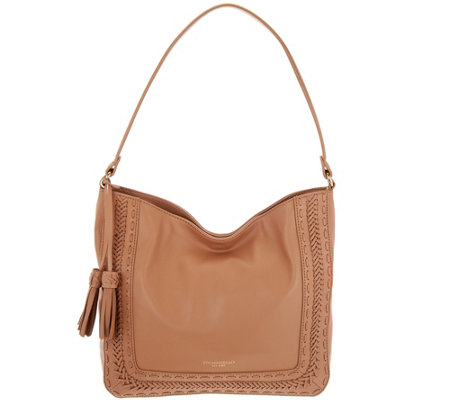 """As Is"" Tignanello Dreamweaver Smooth Leather Hobo"