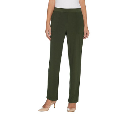 Susan Graver Textured Liquid Knit Pull-On Pants