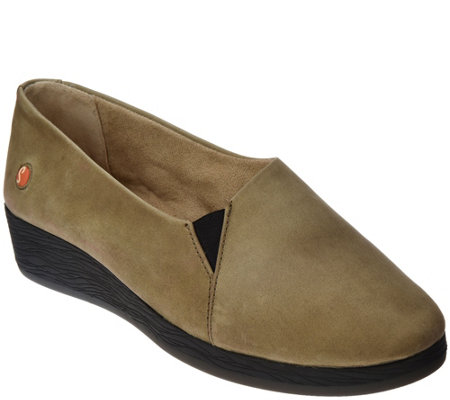 """As Is"" Softinos by FLY London Leather Slip-on Shoes- Ako"