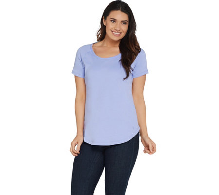 Isaac Mizrahi Live! Essentials Short Raglan Sleeve T-Shirt