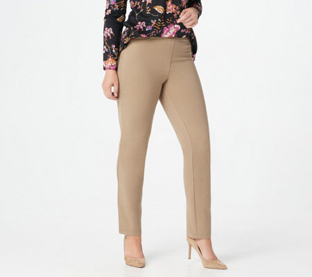 """As Is"" Susan Graver Regular Ponte Straight Leg Pull-On Pants"