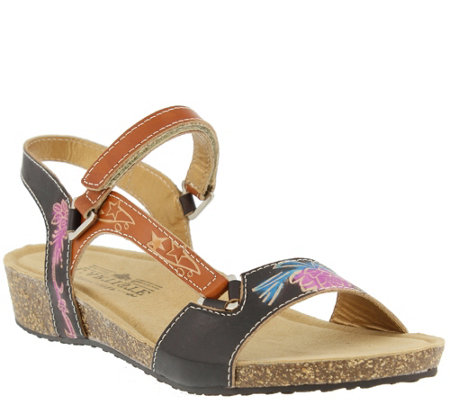 L'Artiste by Spring Step Leather Sandals - Gau