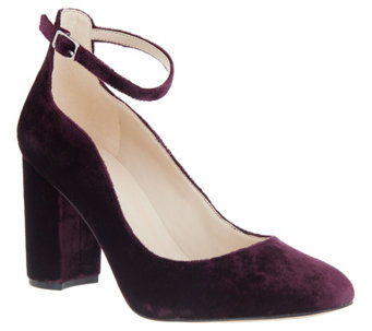 7b5b21f890c Marc Fisher Block Heel Pumps with Ankle Strap - Imagie2 - A342841