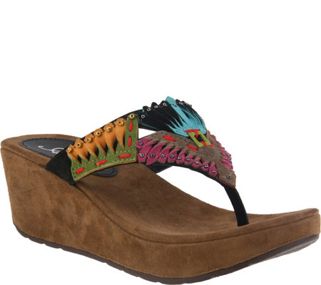 Azura by Spring Step Suede Slide Sandals - Headress