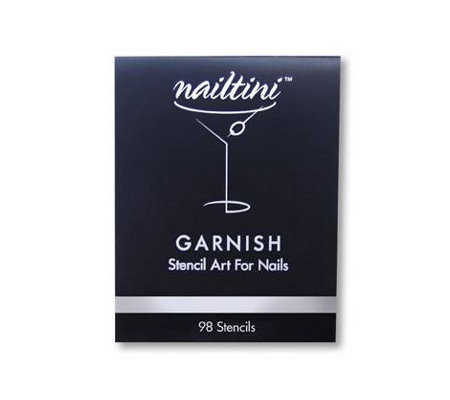 Nailtini Garnish Book Of Nail Art Stencils Page 1 Qvc Com