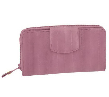 Lee Sands Ladies Eelskin Clutch Wallet