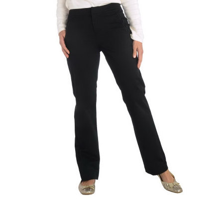 Liz Claiborne New York Jackie Twill Pants with Grosgrain Trim