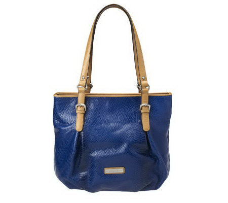 Etienne Aigner Snake Embossed Leather Riveria Tote