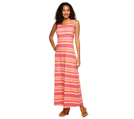 Liz Claiborne New York Regular Stripe Printed Maxi Dress
