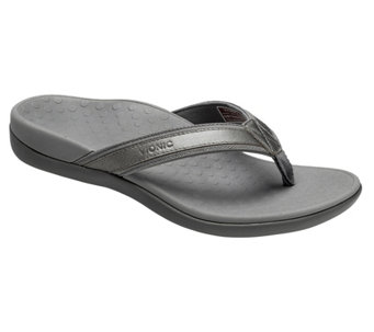 Vionic Orthotic Leather & Mesh Thong Sandals - Tide II - A239842