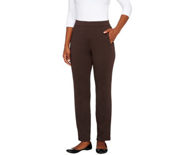 Liz Claiborne New York Petite Knit Pants w/ Welt Pockets - A256342