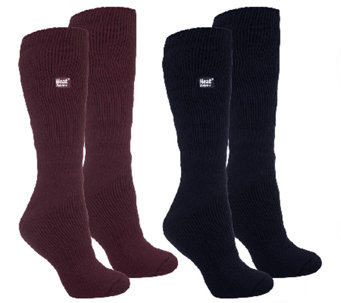 Heat Holders Set of 2 Insulated Thermal Long Leg Socks - A259642