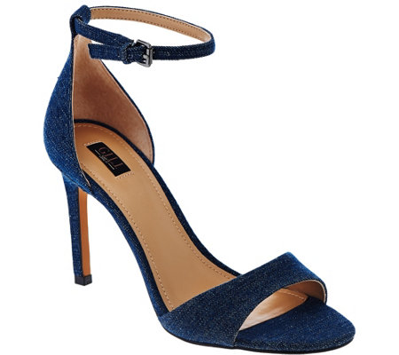 G.I.L.I Denim Ankle Strap Sandals - Colby