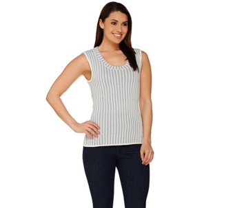 G.I.L.I. Sleeveless Crew Neck Novelty Sweater - A275542