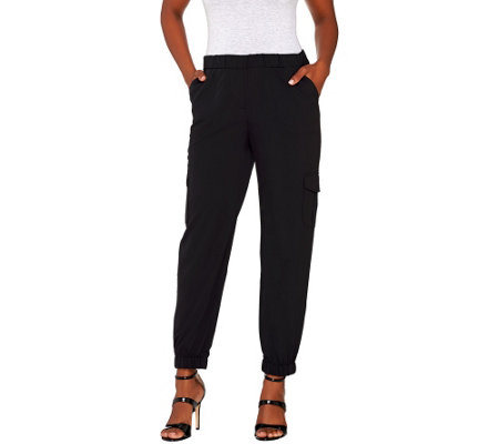 """As Is"" Lisa Rinna Collection Pull-On Cargo Pants"