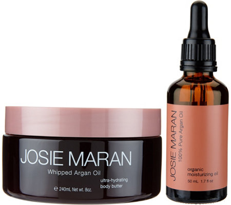 Josie Maran Whipped Argan Oil Body Butter & Argan Oil Duo