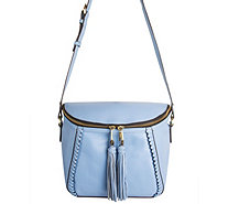 orYANY Pebbled Leather Crossbody Bag w/ Tassels - Kimberly - A277142