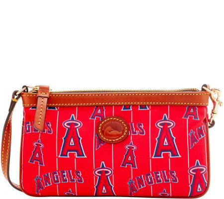 Dooney & Bourke MLB Nylon Angels Large Slim Wristlet