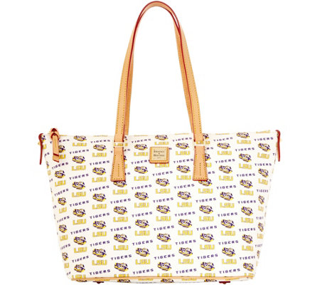 Dooney & Bourke NCAA Louisiana State University Zip Top Shopper