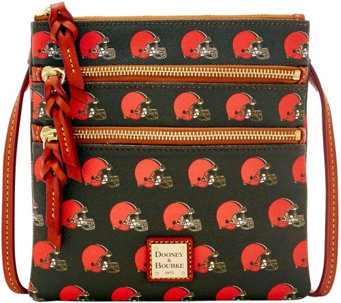 Dooney & Bourke NFL Browns Triple Zip Crossbody - A285642