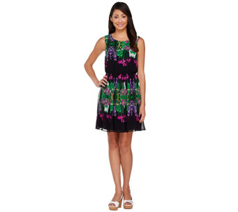 """As Is"" View by Walter Baker Sleeveless Floral Printed Dress - A287242"