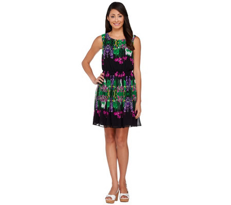 """As Is"" View by Walter Baker Sleeveless Floral Printed Dress"