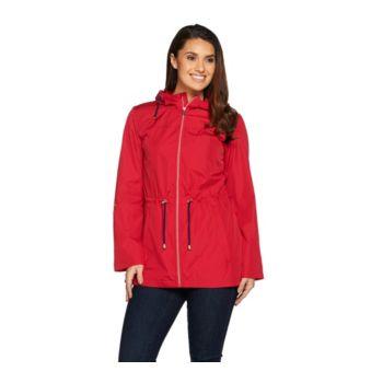 Susan Graver Water Resistant Packable Anorak Jacket with Hood
