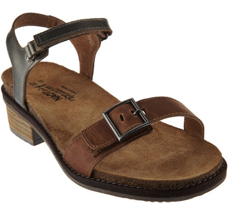 Naot Leather Sandals with Buckle Detail - Boho
