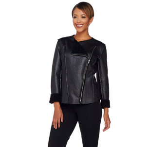 """As Is"" Attitudes by Renee Zip Front Reversible Jacket - A291142"
