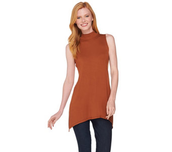 """As Is"" LOGO Layers by Lori Goldstein Mock Neck Knit Tank - A291942"
