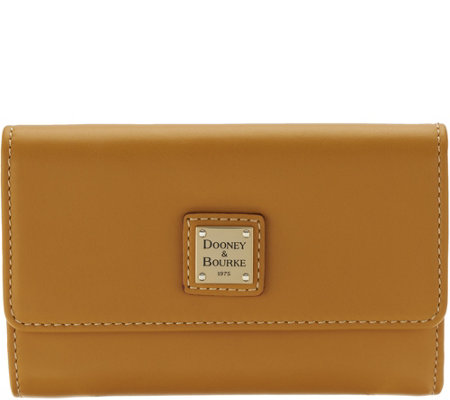 Dooney & Bourke Smooth Leather Flap Wallet