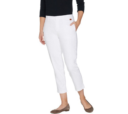 Peace Love World Cropped Stretch Twill Pant