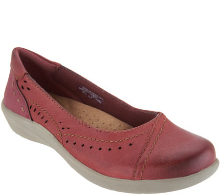 Earth Origins Perforated Slip-On Flats - Lexi