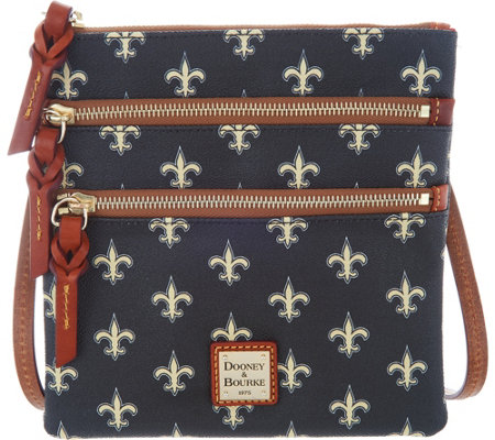 Dooney & Bourke NFL Saints Triple Zip Crossbody