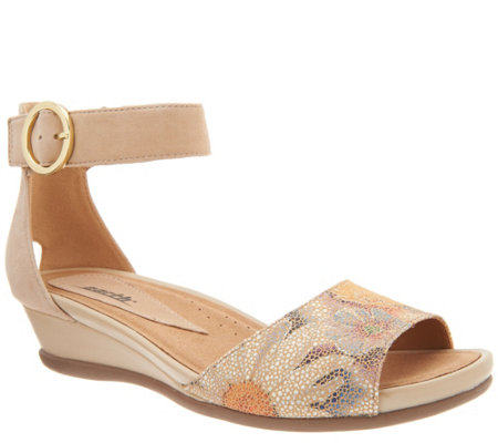 Earth Leather or Suede Two-Piece Sandals - Hera