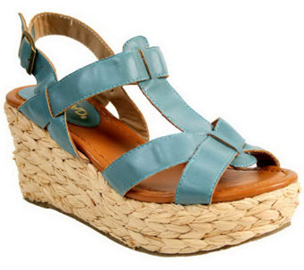 Nomad T-strap Platform Sandals - Sea Breeze - A328642