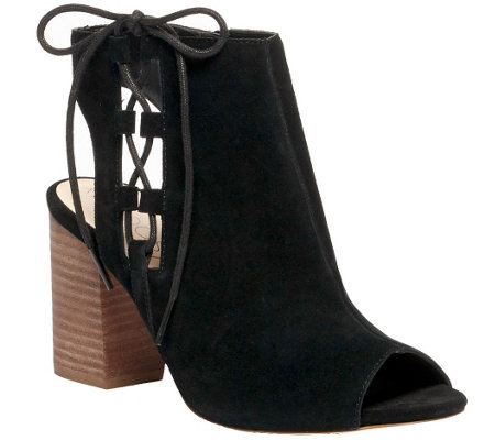 Sole Society Lace-up Leather Bootie Sandals - Freja