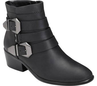 Aerosoles Heel Rest Leather Ankle Boots - My Time - A356342